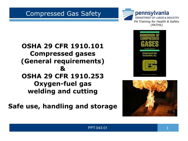compressed gas safety n.