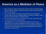 america as a mediator of peace