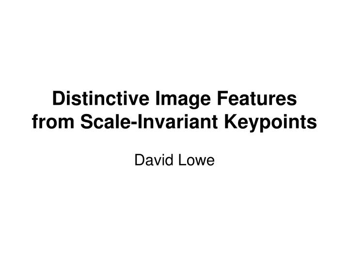distinctive image features from scale invariant keypoints