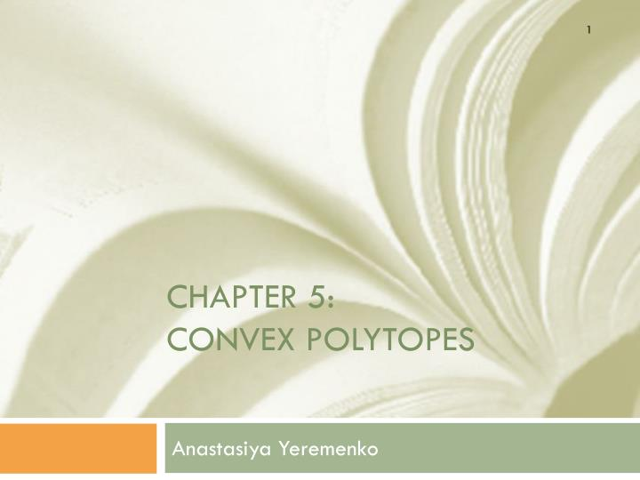 chapter 5 convex polytopes n.