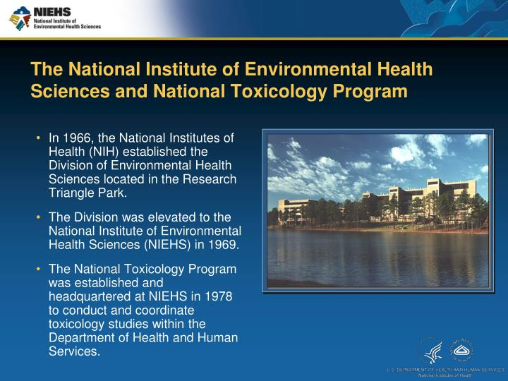 The National Institute Of Environmental Health Sciences And Toxicology Program