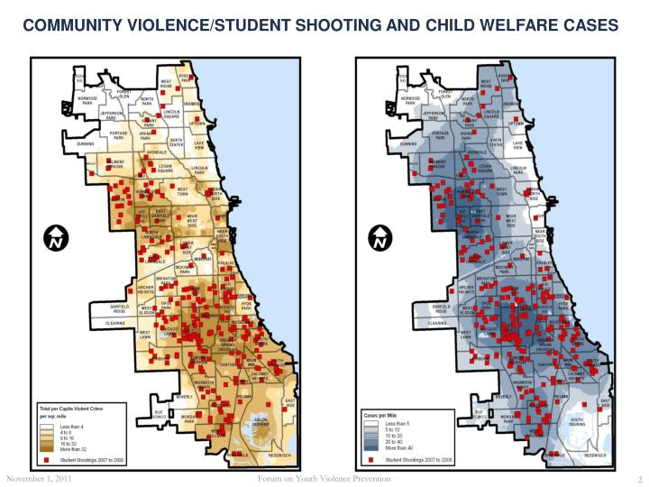 Community violence student shooting and child welfare cases