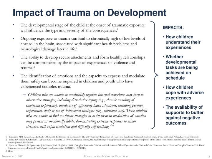 Impact of trauma on development