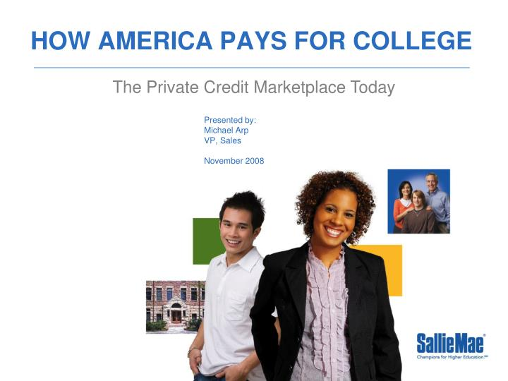 how america pays for college n.