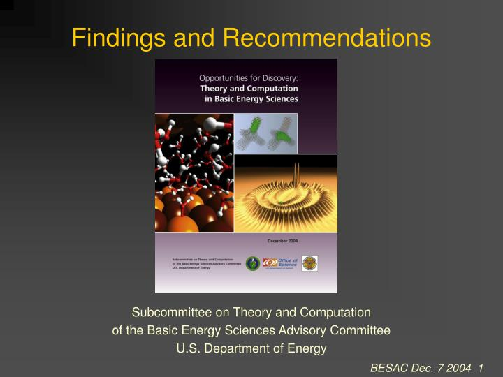 findings and recommendations n.