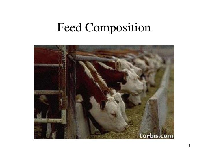 feed composition n.