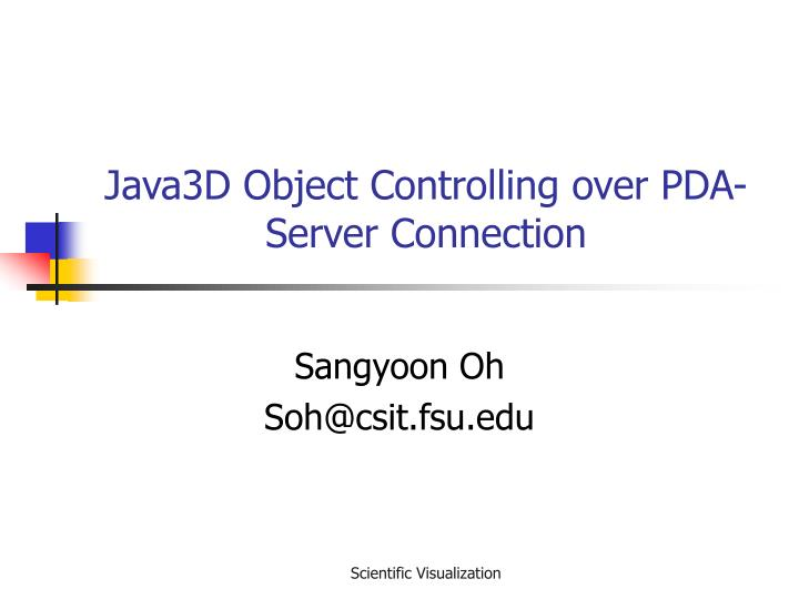 java3d object controlling over pda server connection n.