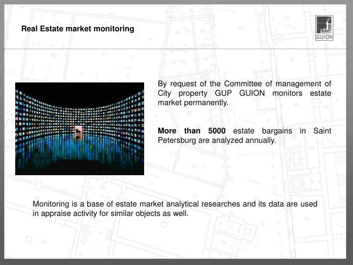 Real Estate market monitoring
