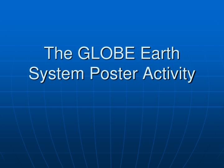 the globe earth system poster activity n.