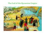 the end of the byzantine empire