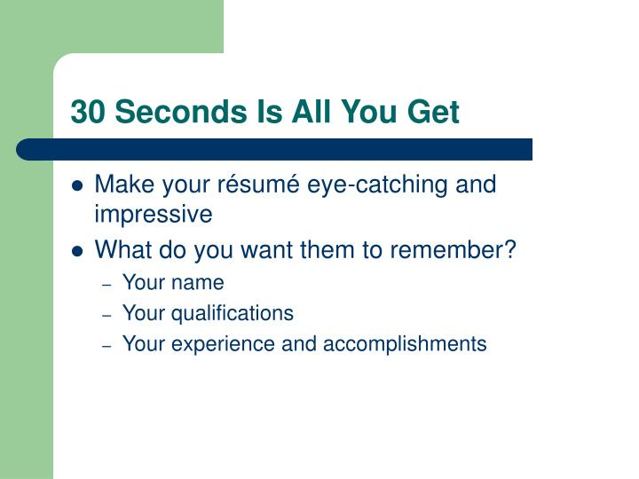 30 Seconds Is All You Get