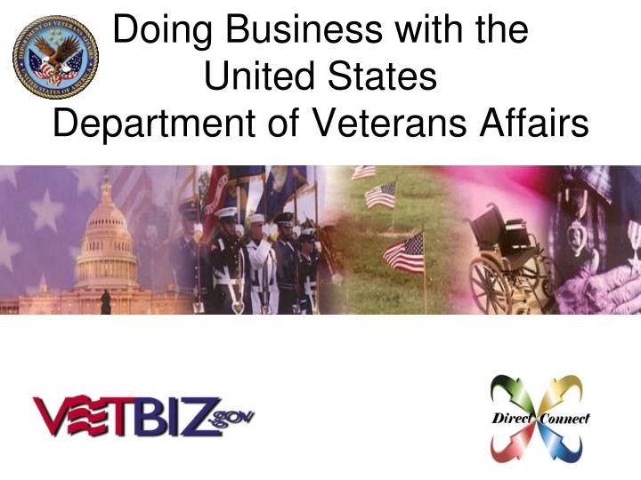 doing business with the united states department of veterans affairs n.