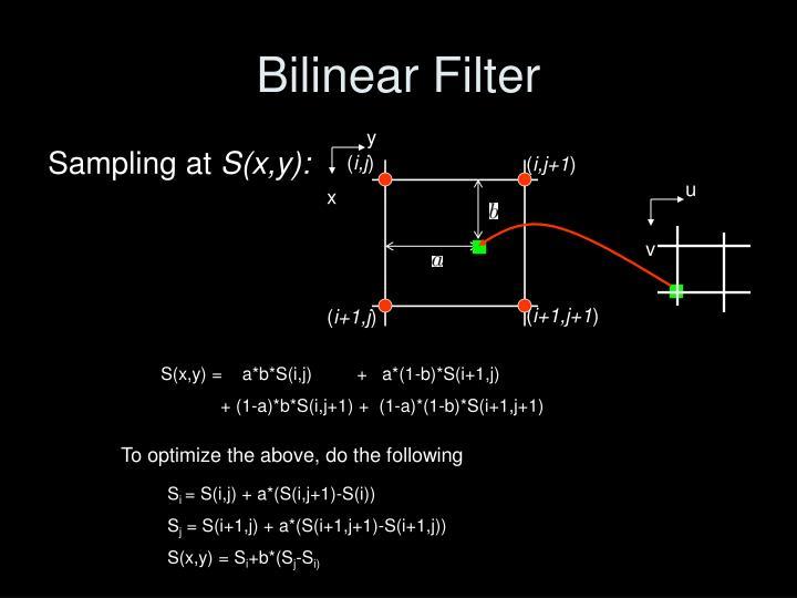 Bilinear Filter
