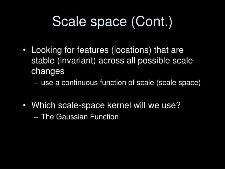 Scale space (Cont.)