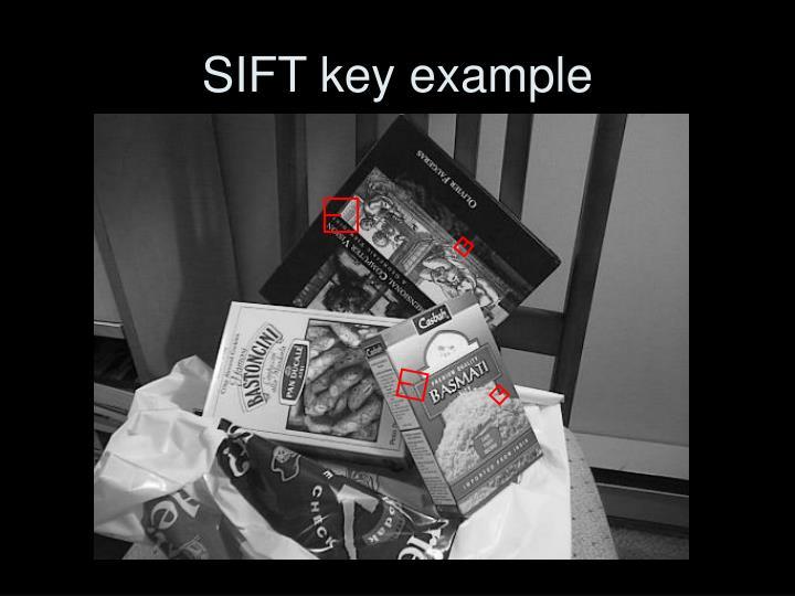 SIFT key example