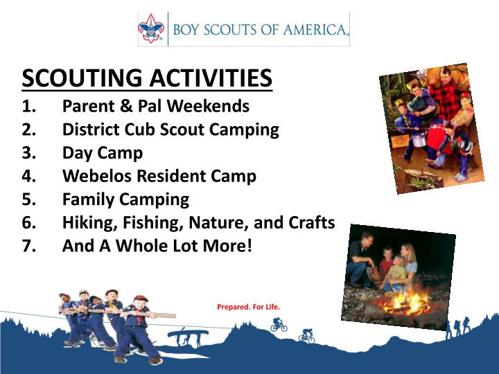 SCOUTING ACTIVITIES