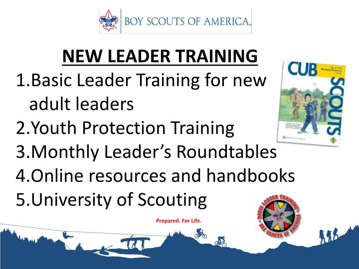NEW LEADER TRAINING