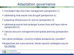adaptation governance