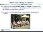 communicating extremes