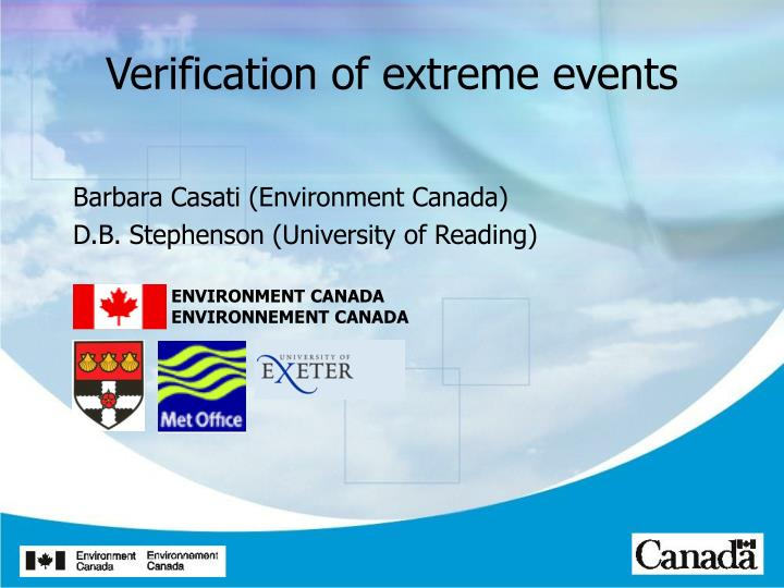 Verification of extreme events