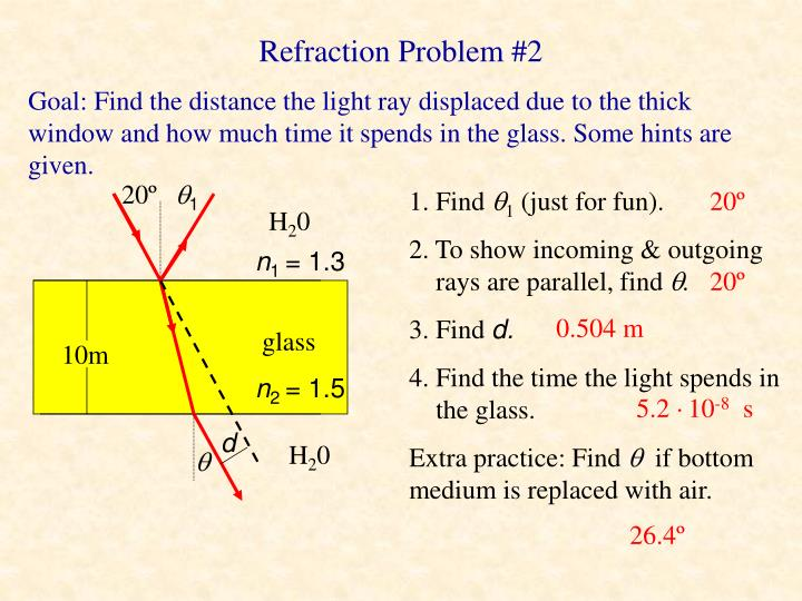 Refraction Problem #2