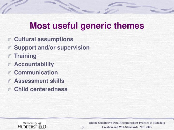 Most useful generic themes