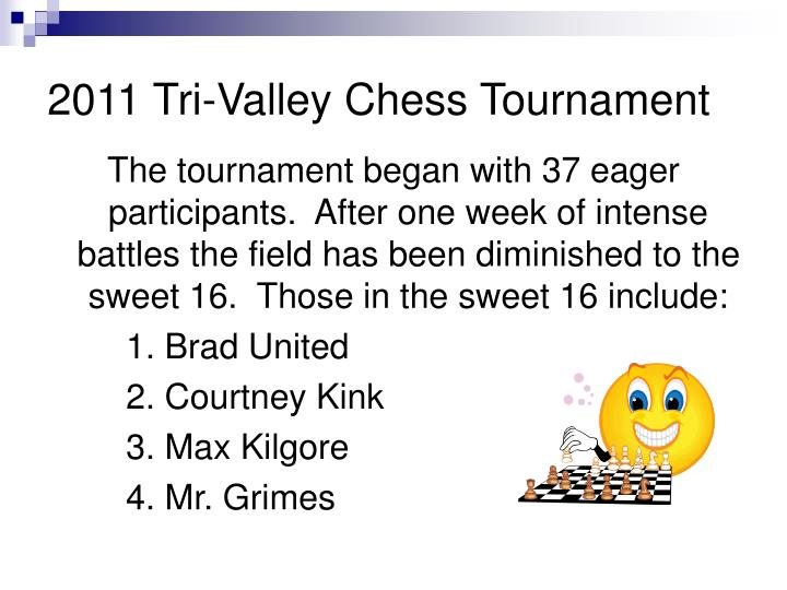 2011 Tri-Valley Chess Tournament