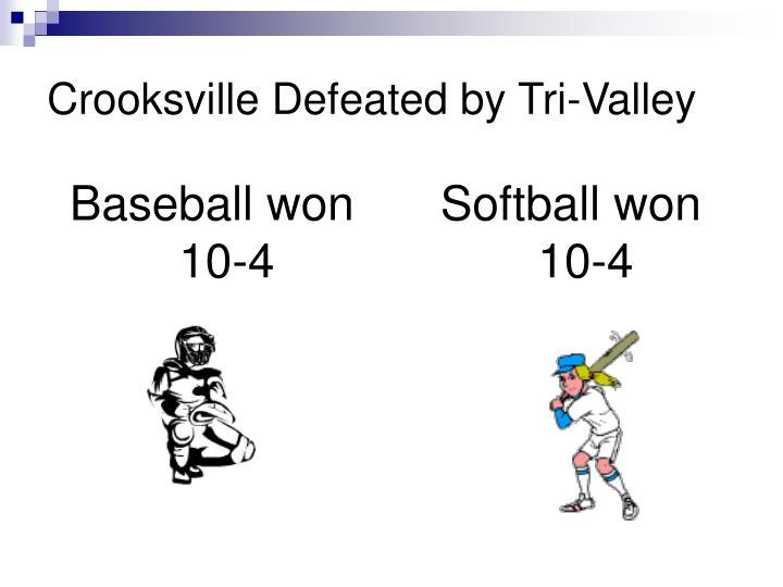 Baseball won 10-4