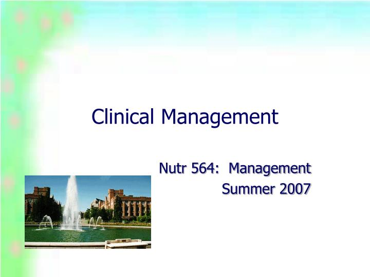 clinical management n.