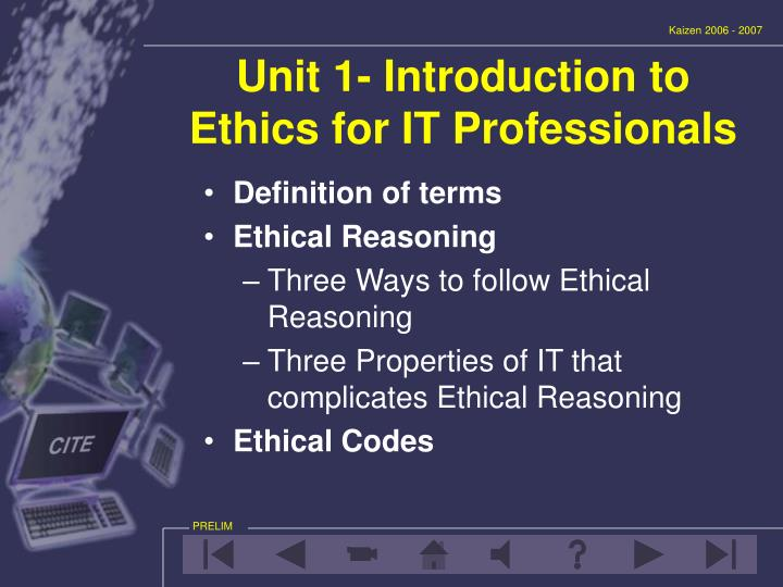 an introduction and a definition of the term ethics
