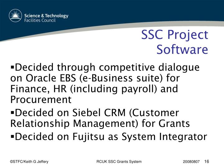 SSC Project Software