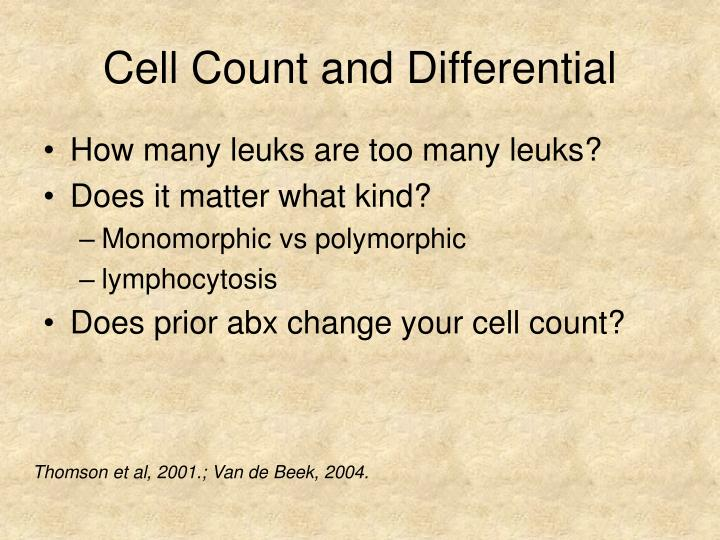 Cell Count and Differential