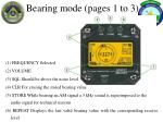 bearing mode pages 1 to 3