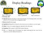 display readings