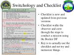 switchology and checklist