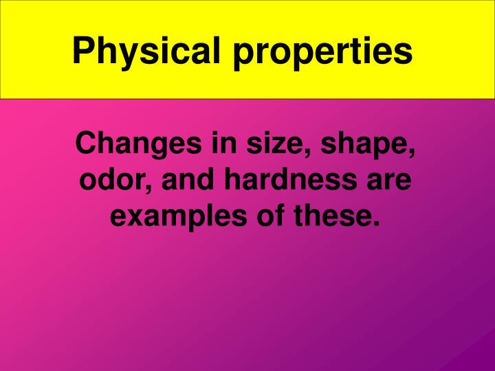 Physical properties