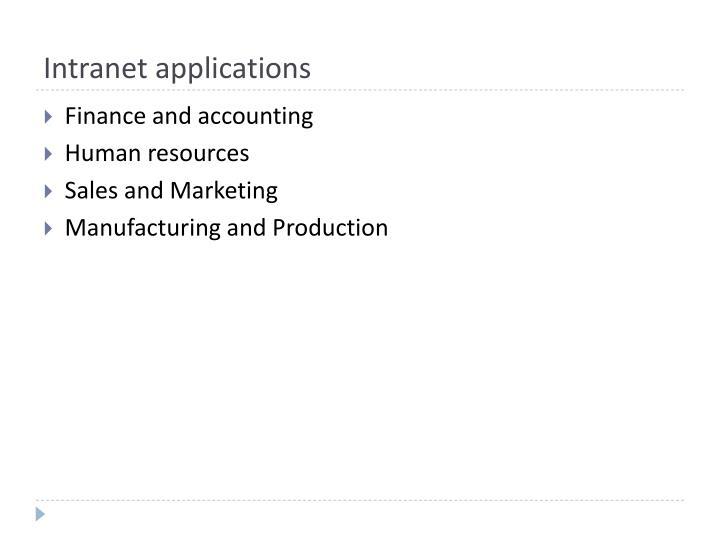 Intranet applications