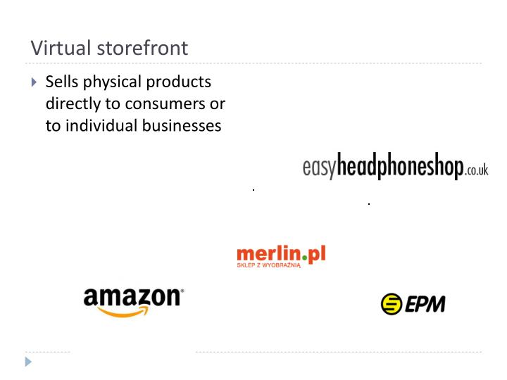 Virtual storefront