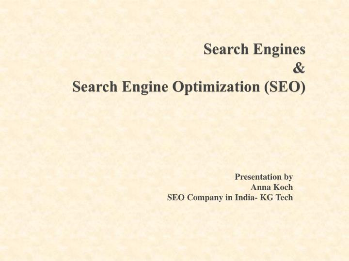 search engines search engine optimization seo n.