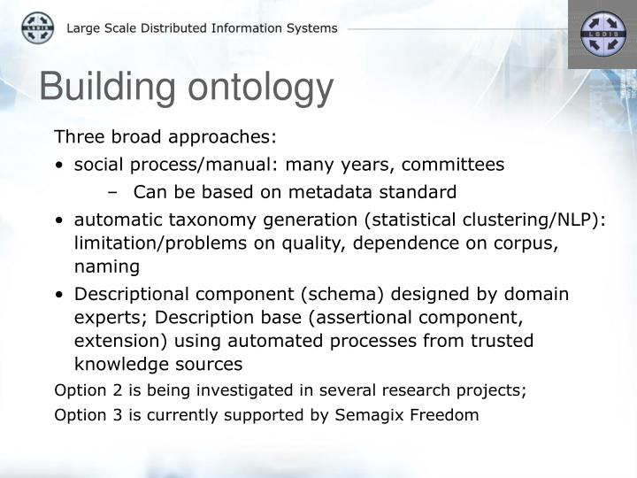 Building ontology