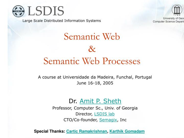 Semantic web semantic web processes