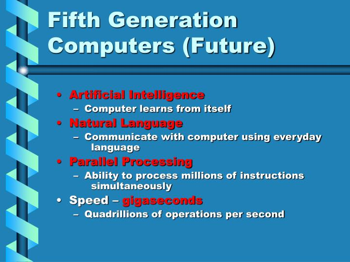 Fifth Generation Computers (Future)