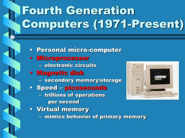 Fourth Generation Computers (1971-Present)
