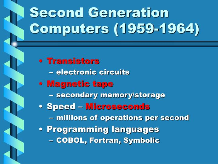 Second Generation Computers (1959-1964)