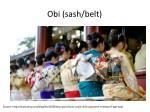 obi sash belt