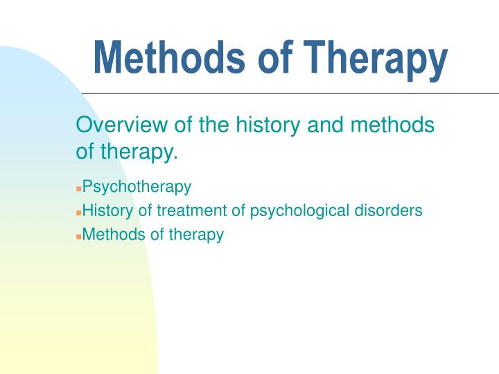 methods of therapy n.