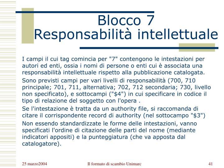 Blocco 7