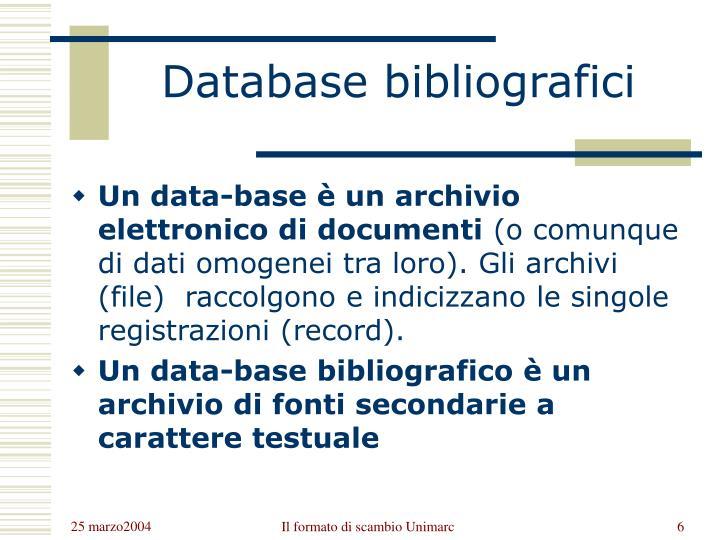 Database bibliografici