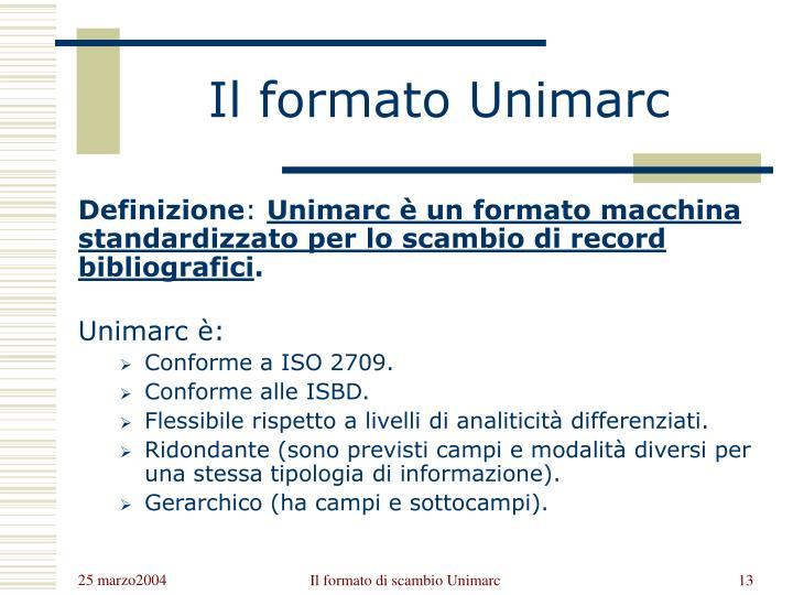 Il formato Unimarc