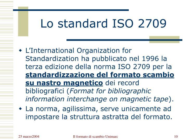Lo standard ISO 2709
